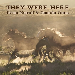 Cover image of the album They Were Here by Byron Metcalf and Jennifer Grais