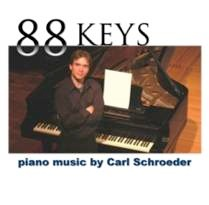 Cover image of the album 88 Keys by Carl Schroeder