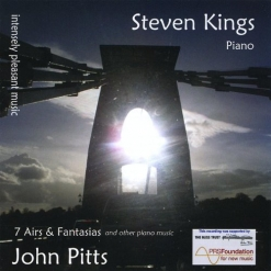 Cover image of the album Intensely Pleasant Music: 7 Airs & Fantasias and Other Piano Music by John Pitts