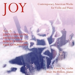 Cover image of the album Joy: Contemporary American Works for Violin and Piano by Robert Paterson