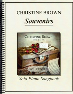 Cover image of the songbook Souvenirs by Christine Brown