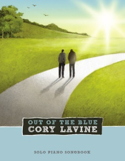 Cover image of the songbook Out of the Blue by Cory Lavine