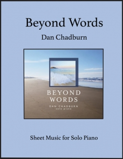 Cover image of the songbook Beyond Words by Dan Chadburn