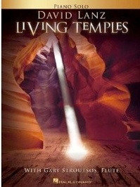 Cover image of the songbook Living Temples by David Lanz