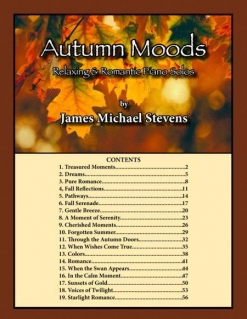 Cover image of the songbook Autumn Moods by James Michael Stevens