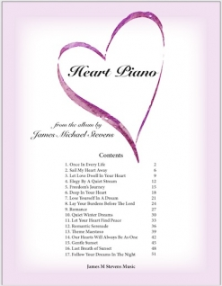 Cover image of the songbook Heart Piano by James Michael Stevens