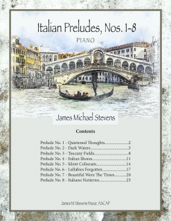 Cover image of the songbook Italian Preludes, Nos. 1-8 by James Michael Stevens