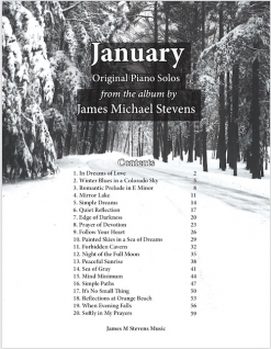 Cover image of the songbook January by James Michael Stevens