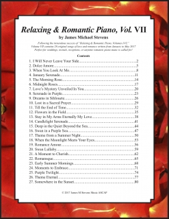 Cover image of the songbook Relaxing & Romantic Piano, Vol. VII by James Michael Stevens