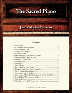 Cover image of the songbook The Sacred Piano by James Michael Stevens