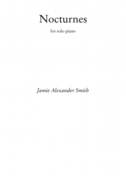 Cover image of the songbook Nocturnes by Jamie Alexander Smith