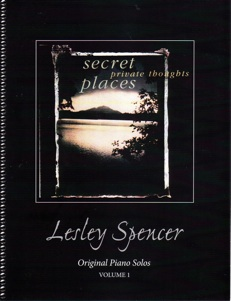Cover image of the songbook Secret Places Private Thoughts by Lesley Spencer