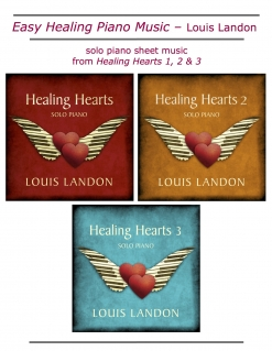 Cover image of the songbook Easy Healing Piano Music by Louis Landon