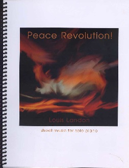 Cover image of the songbook Peace Revolution by Louis Landon