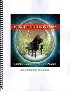 Cover image of the songbook Peaceful Christmas by Louis Landon