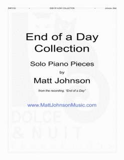 Cover image of the songbook End of a Day Collection by Matt Johnson