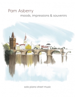 Cover image of the songbook Moods, Impressions & Souvenirs by Pam Asberry