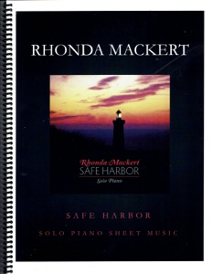 Cover image of the songbook Safe Harbor by Rhonda Mackert