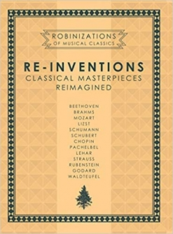 Cover image of the songbook Re-Inventions by Robin Spielberg