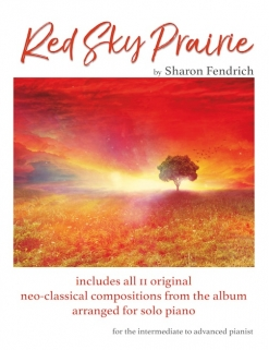Cover image of the songbook Red Sky Prairie by Sharon Fendrich