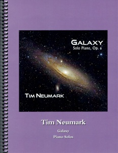 Cover image of the songbook Galaxy, Op. 6 by Tim Neumark