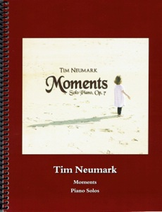 Cover image of the songbook Moments, Op. 7 by Tim Neumark