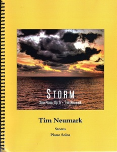 Cover image of the songbook Storm, Op. 5 by Tim Neumark